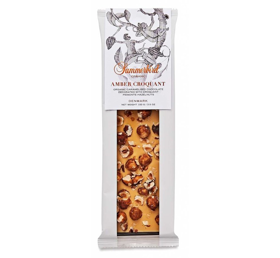 Weiße Bio-Schokolade Amber Croquant