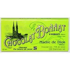 Bonnat Dunkle Schokolade Madre de Dios 75%