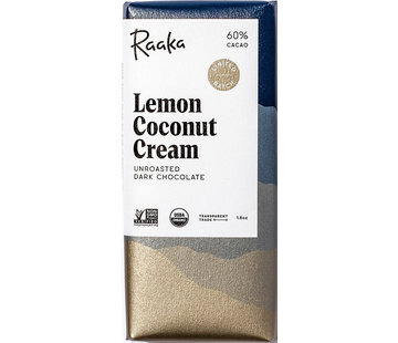 Raaka Chocolate Dunkle Bio-Schokolade Lemon Coconut Cream 60%
