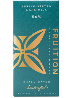Fruition Chocolate Works Milchschokolade Spring Salted Dark Milk 56%