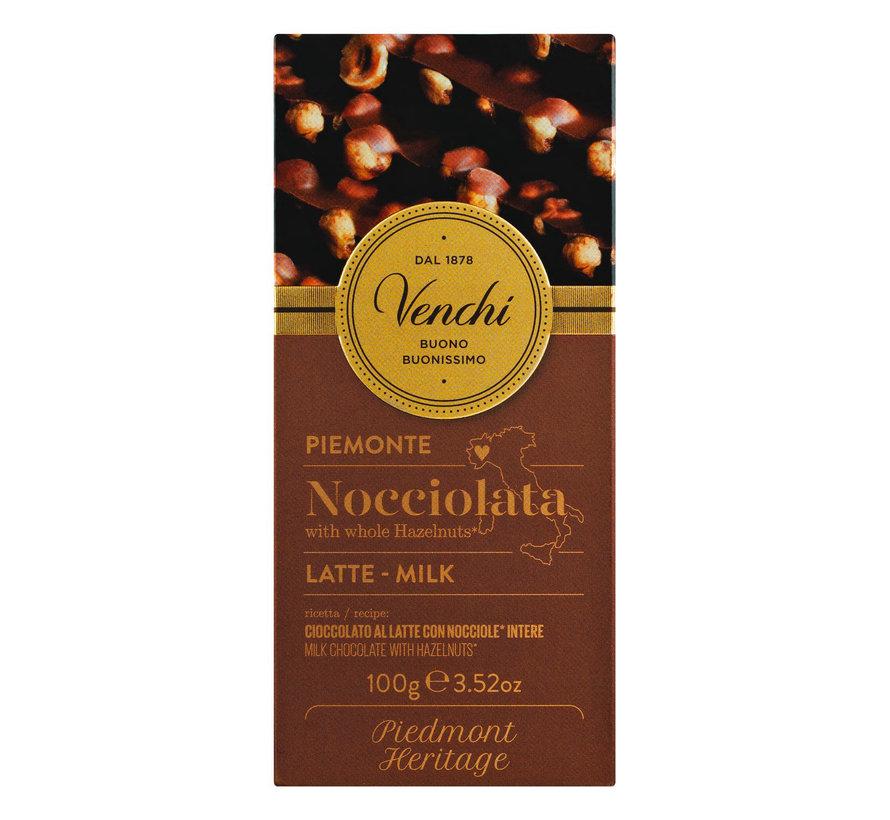 Milchschokolade mit ganzen Haselnüssen Nocciolato Latte