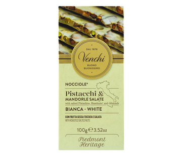 Venchi Weiße Schokolade mit gerösteten und gesalzenen Nüssen