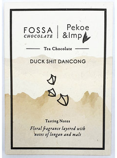 Fossa Chocolates Dunkle Schokolade Duck Shit Dancong