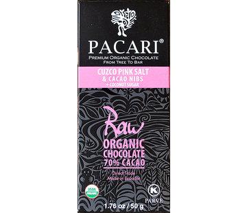 Pacari Dunkle Schokolade 70% Raw Cuzco Salt & Nibs