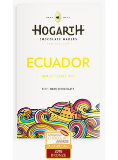 Hogarth Craft Chocolate Dunkle Schokolade Hacienda Victoria Ecuador 85%