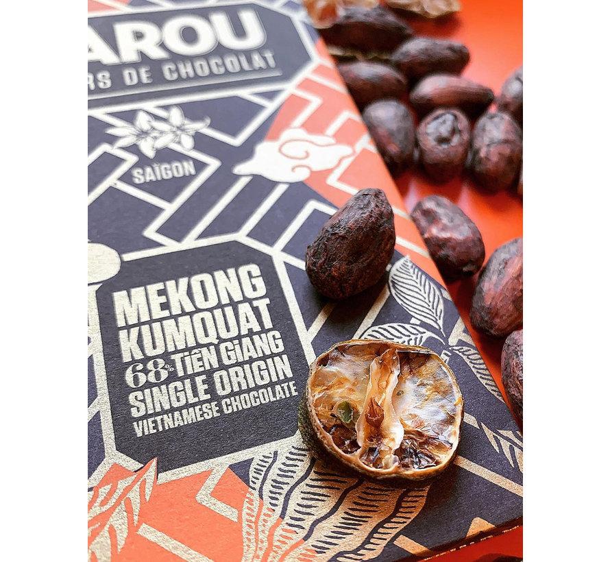 Dunkle Schokolade Mekong Kumquat 68% Tien Giang