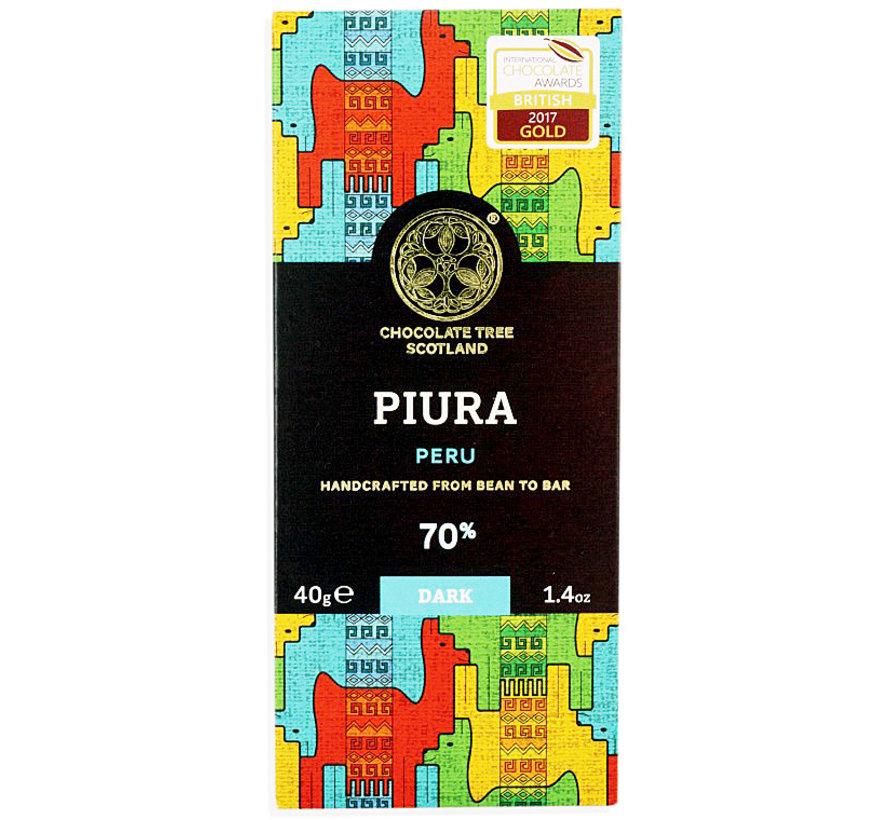 Dunkle Schokolade Piura Peru 70%