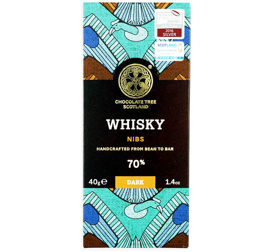 Dunkle Schokolade 70% Whisky and Nibs