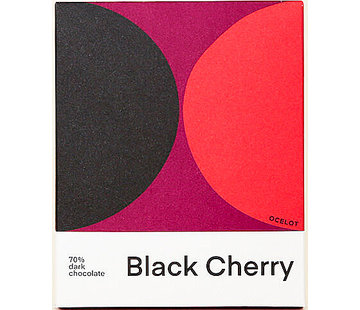 Ocelot Chocolate Dunkle Schokolade Black Cherry 70%