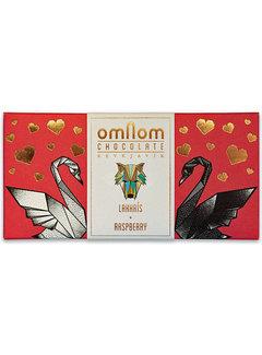 Omnom Chocolate Weiße Schokolade Lakkrís + Raspberry