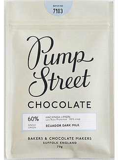 Pump Street Chocolate Milchschokolade Ecuador Hacienda Limon 60%