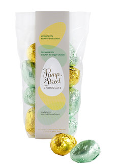 Pump Street Chocolate Dunkle Schokolade Eggs Jamaica 75% and Grenada 70%