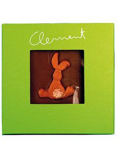 Clement Chococult Dunkle Schokolade Handgeschöpfte Schokolade mit Motiv-Hasen von hinten