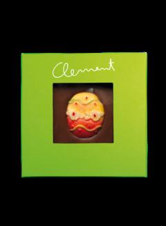 Clement Chococult Dunkle Schokolade Handgeschöpfte Schokolade mit Motiv-Osterei