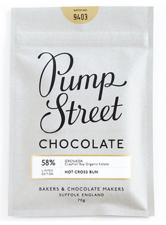 Pump Street Chocolate Dunkle Schokolade Grenada 58% Hot Cross Bun