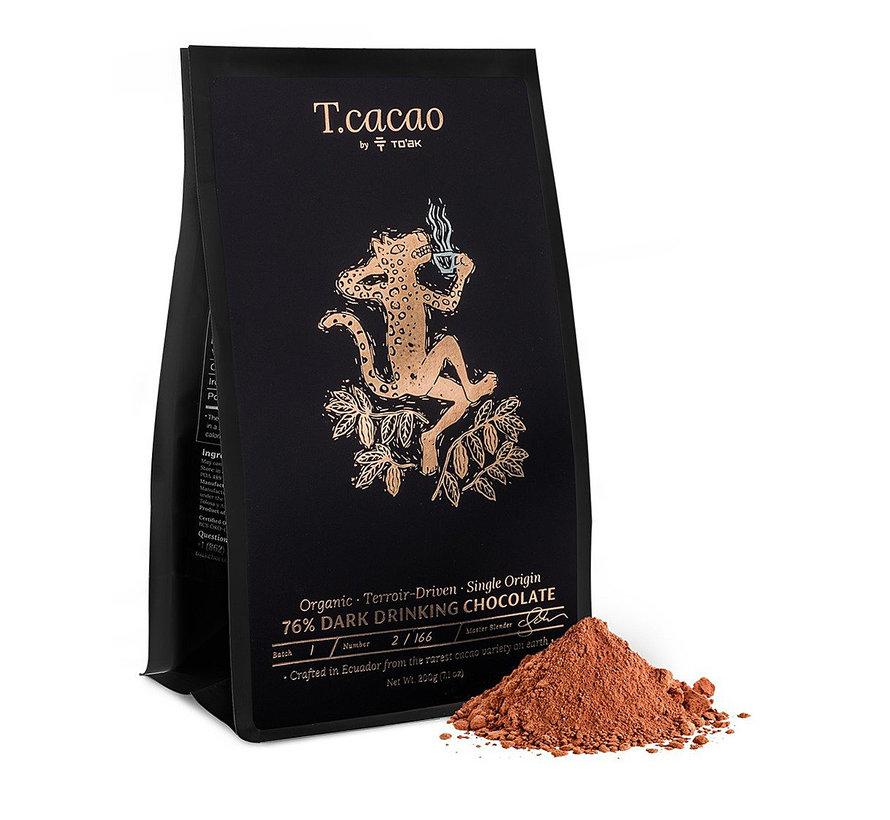 Dunkle Bio-Trinkschokolade T.cacao Classic 76%