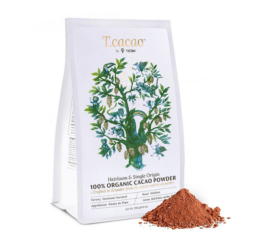 Dunkle Bio-Trinkschokolade T.cacao Cacao Powder 100%