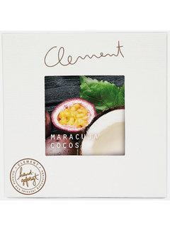 Clement Chococult Weiße Schokolade Maracuja-Kokos