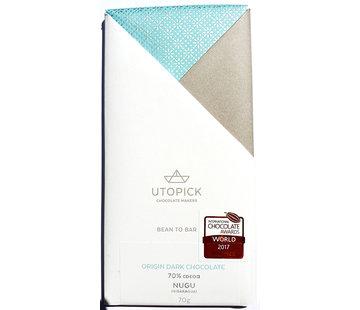 Utopick Dunkle Schokolade 70% Nugu - Nicaragua