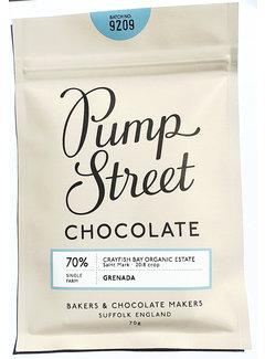 Pump Street Chocolate Dunkle Schokolade 70% Grenada Crayfish Bay
