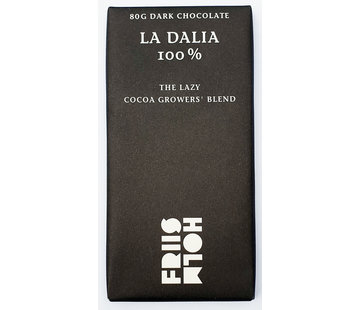 Friis-Holm Chocolade Dunkle Schokolade 100% La Dalia The Lazy Cocoa Growers Blend