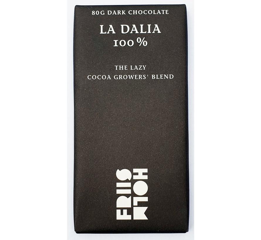 Dunkle Schokolade 100% La Dalia The Lazy Cocoa Growers Blend