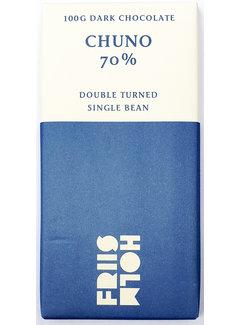 Friis-Holm Chocolade Dunkle Schokolade 70% Chuno Double Turned