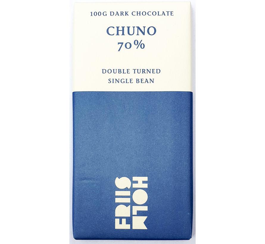 Dunkle Schokolade 70% Chuno Double Turned