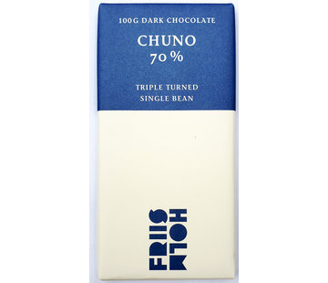 Friis-Holm Chocolade Dunkle Schokolade 70% Chuno Triple Turned