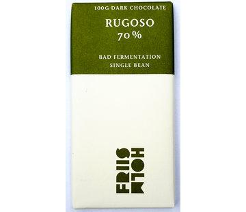"Friis-Holm Chocolade Dunkle Schokolade Rugoso 70% ""Bad Fermentation"""