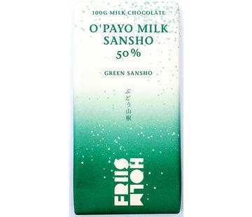 Friis-Holm Chocolade Milchschokolade 50% O'Payo Milk Sansho Pepper