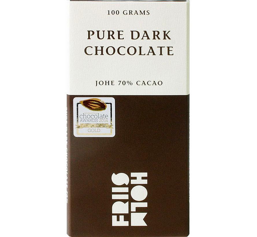 Dunkle Schokolade 70% Johe