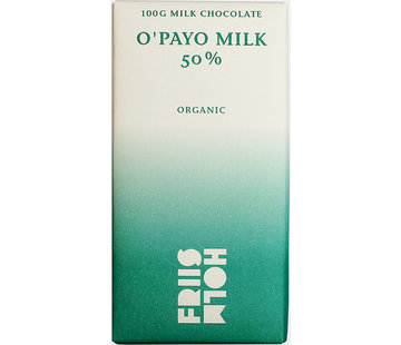 Friis-Holm Chocolade Bio-Milchschokolade 50% O'Payo Milk