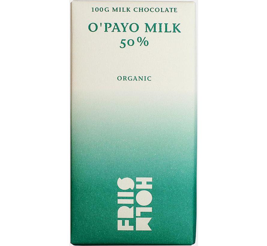 Bio-Milchschokolade 50% O'Payo Milk