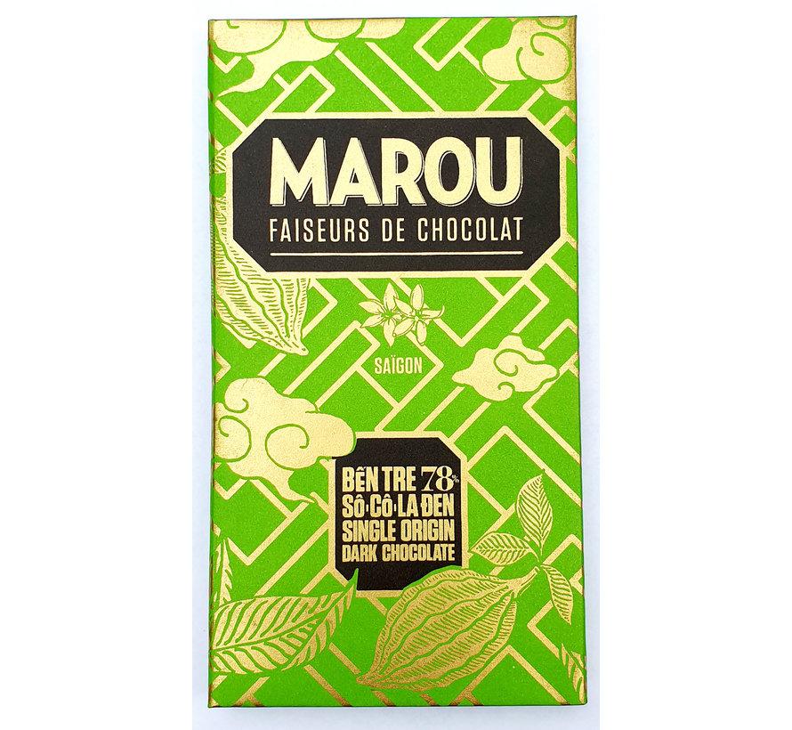 Dunkle Schokolade Ben Tre 78%