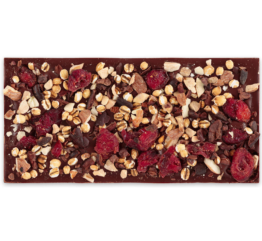 Dunkle Schokolade 70% Superchocoberrybarleynibblynuttylicious
