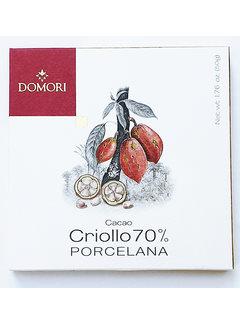 Domori Dunkle Schokolade 70% Porcelana Cacao Criollo