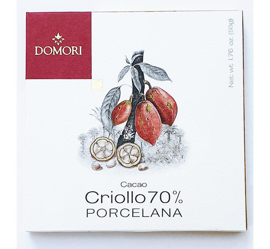 Dunkle Schokolade 70% Porcelana Cacao Criollo
