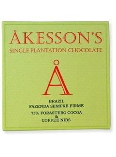 Akesson's Dunkle Schokolade 75% Brazil Sempre Firme mit Kaffee