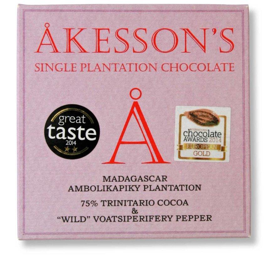 Dunkle Schokolade 75% Wild Voatsiperifery Pepper