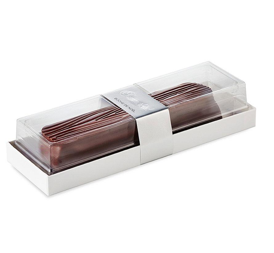 Dunkle Bio-Schokolade Buche de Noel