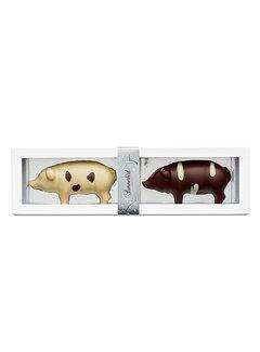Summerbird Bio-Marzipan mit dunkler und weißer Schokolade - Julegrise