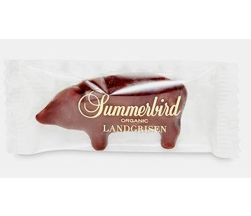 Summerbird Bio-Marzipan mit dunkler Schokolade als Schweinchen