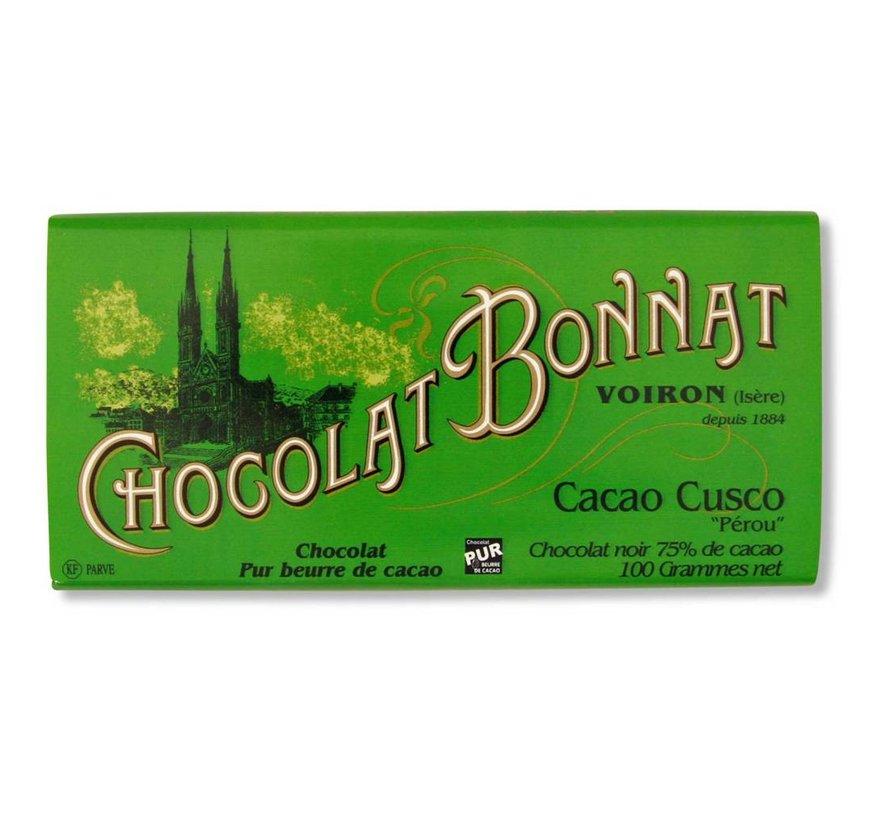 Dunkle Schokolade Cacao Cusco 75%