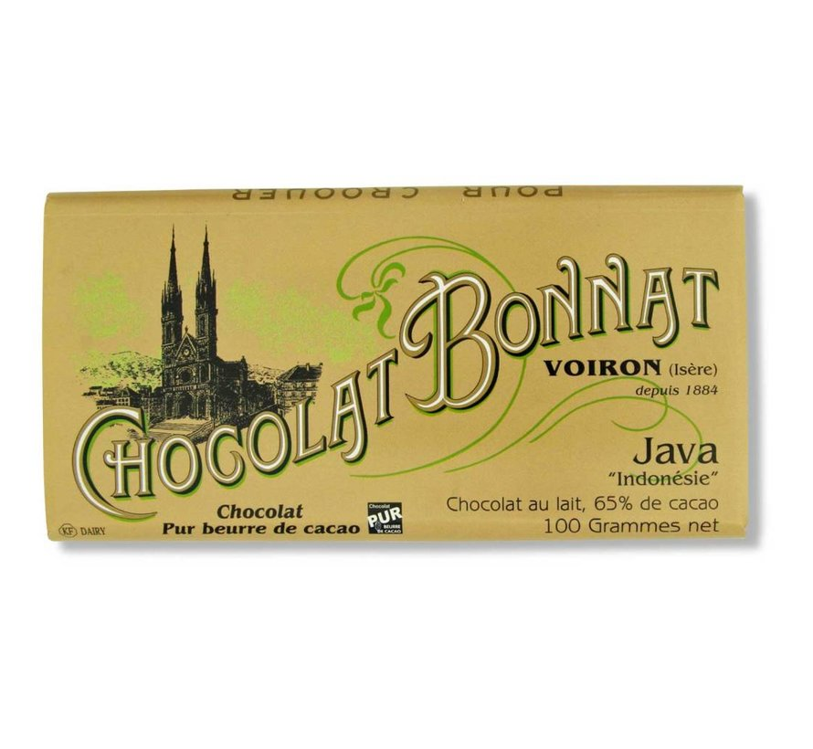 Milchschokolade 65% Java Chocolat au Lait