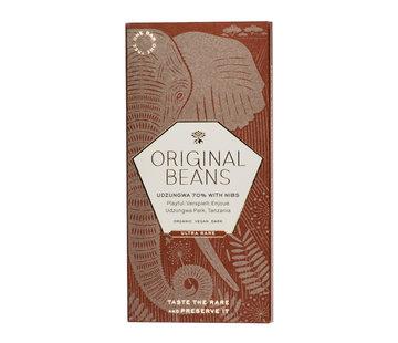 Original Beans Dunkle Schokolade 70% Cru Udzungwa mit Nibs