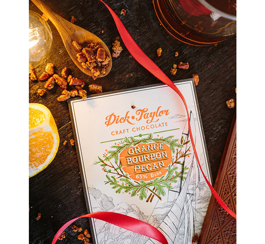 Dunkle Schokolade 65% Orange Bourbon Pecan
