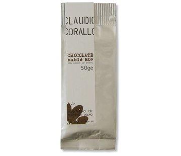 Claudio Corallo Dunkle Schokolade Chocolate sablé 80%