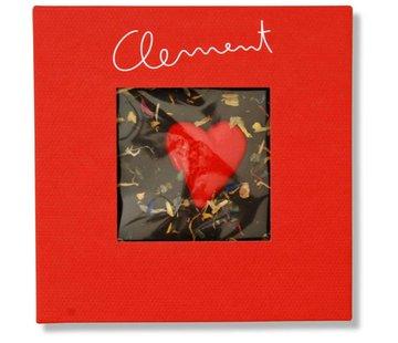 Clement Chococult Dunkle Schokolade 60% mit Herzmotiv