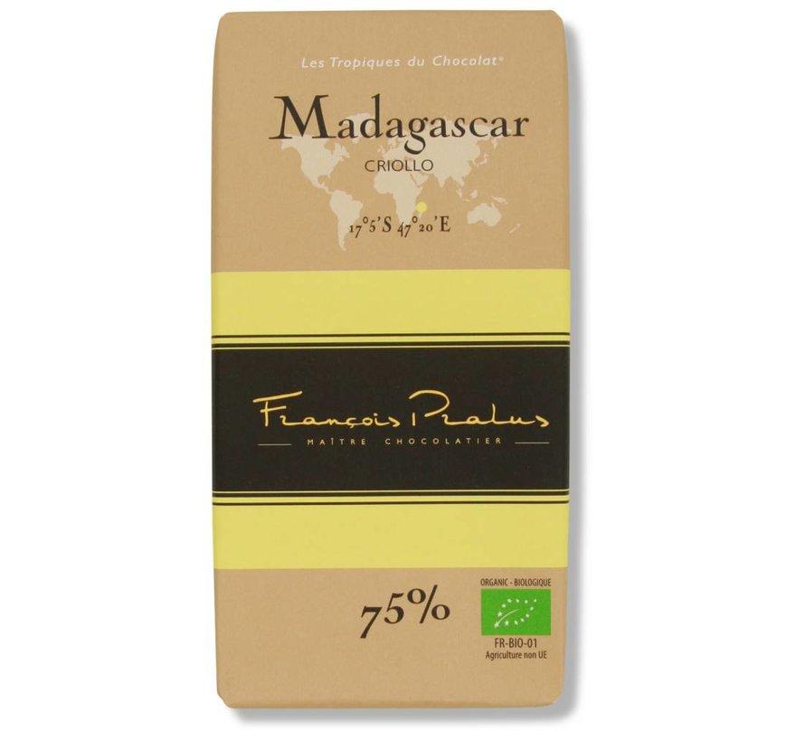 Dunkle Bio-Schokolade 75% Madagascar
